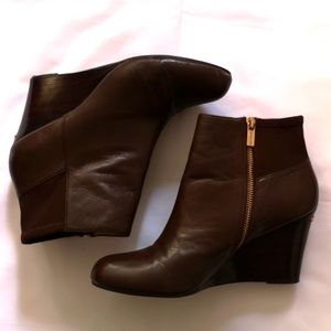 Michael Kors Leather Ankle Boots, Size 9.5M, Brown